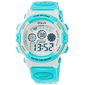 [アリアス]ALIAS 腕時計 デジタル DASH 5気圧防水 ウレタンベルト グリーン ADWW17099-05 メンズ