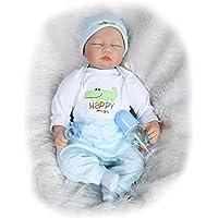 NPK collection Rebornベビー人形リアルな赤ちゃん人形ビニールシリコン赤ちゃん22インチ55 cm新生児Realベビー人形Life Like Rebornおしゃぶり人形