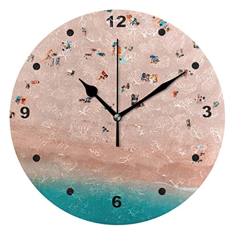 インテリア 掛け時計 木製 サイレント キッズ 子供 部屋 簡単ビーチ子供 置き時計 おしゃれ 北欧 時計 壁掛け 連続秒針 電池式