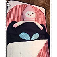 スポーツがトップグレードブルーWhale Cute Baby sleeping bag 100 %コットンベビー乳児寝具セット暖かいラップバッグ冬と秋の 28X39Inch ブルー