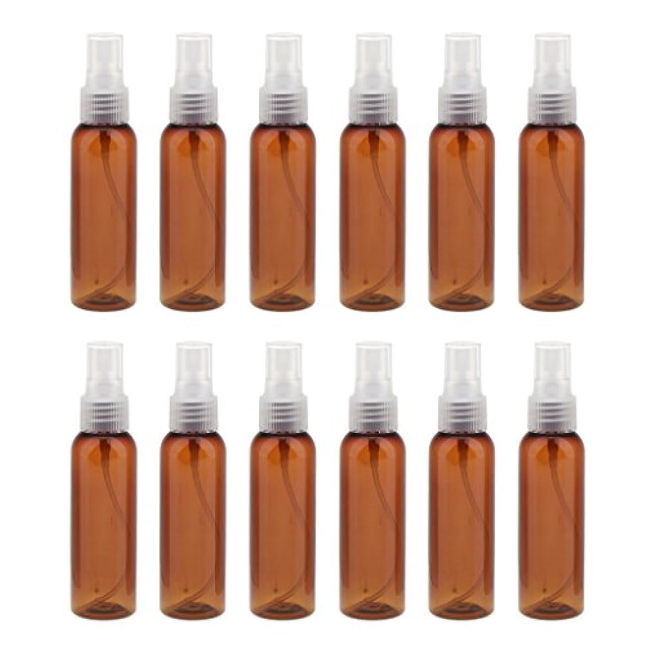 少数頂点許容できる詰め替え 化粧品容器 コンセプト 空のスプレーボトル 旅行 漏れ防止 60ml 12本 全3色 - クリア