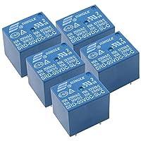HWMATE DC 5V 10Aパワーリレー PCBマウント 5ピン変換タイプ(5パック)