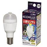 アイリスオーヤマ LED電球 人感センサー付 垂直 昼白色  300lm LDA4N-H-E17SV