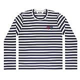 COMME des GARCONS コムデギャルソン PLAY stripe LADY'S  レディースlong T-shirts ロングTシャツ Mサイズ NAVY(ネイビー)