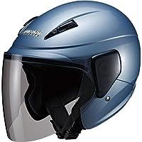 マルシン(MARUSHIN) バイクヘルメット セミジェット M-520 アイスブルー フリーサイズ(57~~60CM未…