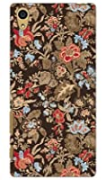 SECOND SKIN SINDEE 「Nooma Flower (ブラウン)」 / for Xperia Z5 501SO/SoftBank  SSOXZ5-ABWH-193-K620