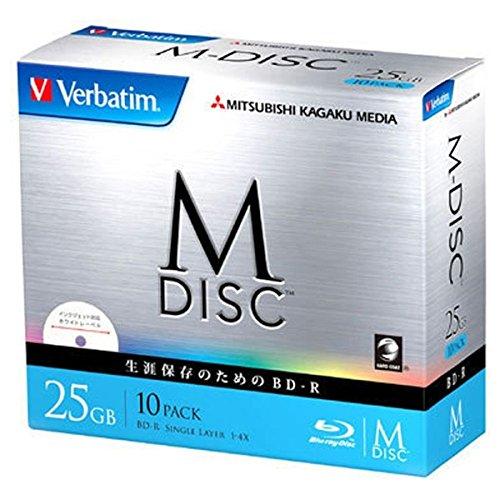 アイ・オー・データ機器 長期保存可能なデータ用ブルーレイ「M-DISC」1回記録用 25GB 1-4倍速 5mmケース10P VBR130YMDP10V1