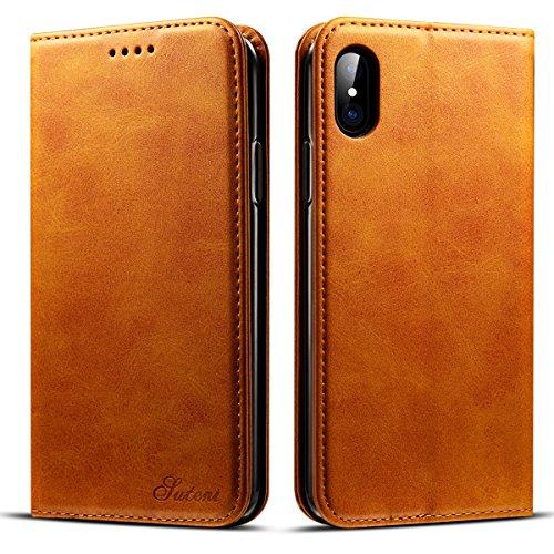 iPhone201750 iPhoneX ケース 手帳型 Rssviss アイフォンX レザー マグネット W1 レトロブラウン
