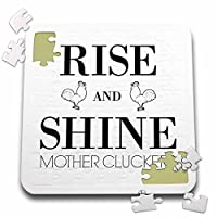 BrooklynMeme面白いことわざ–Rise And Shine母Cluckers–10x 10インチパズル( P。_ 253050_ 2)