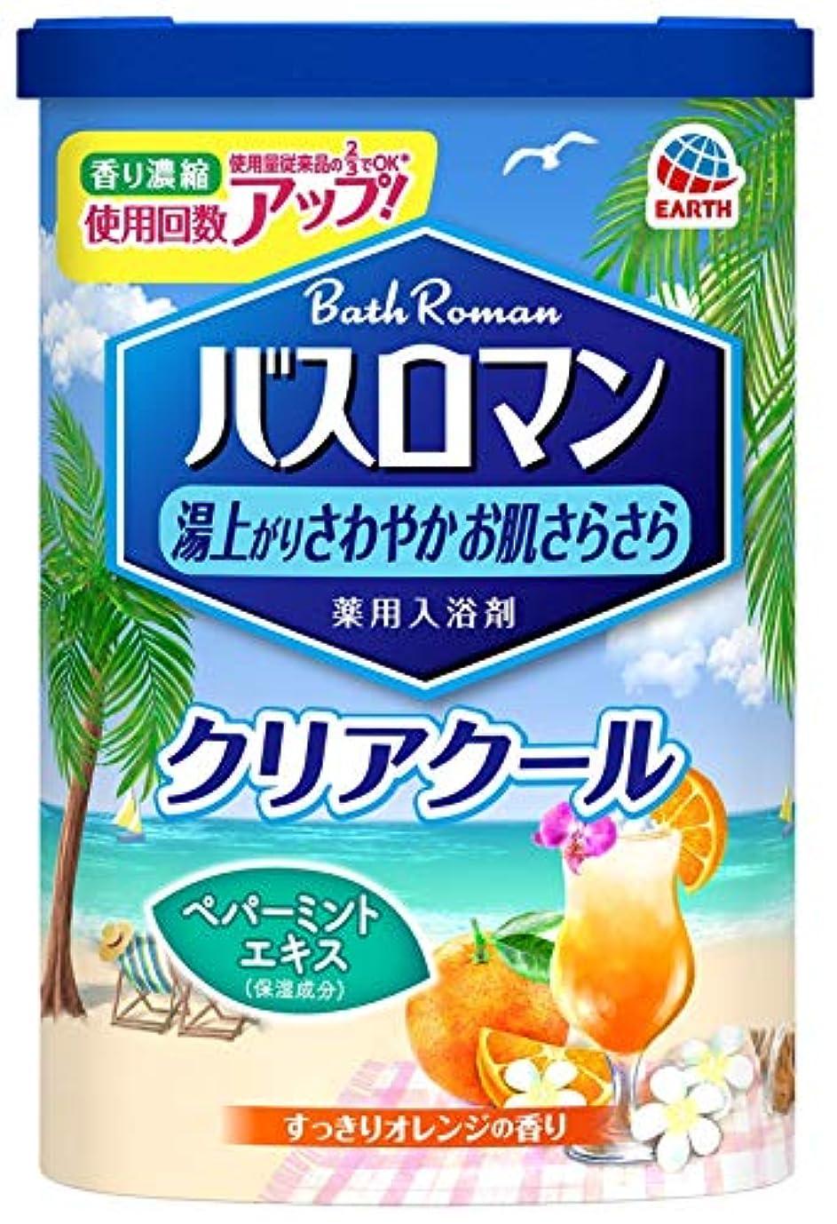 ハッチ忠誠きしむ【医薬部外品】バスロマン 入浴剤 クリアクール [600g]