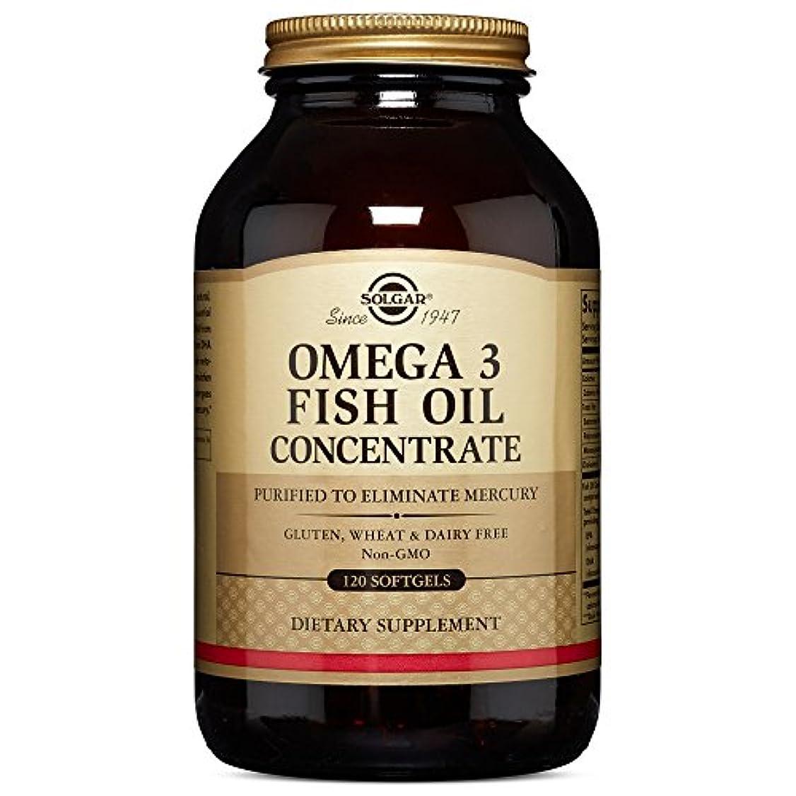 悪名高い行う形OMEGA3 FISHOIL Concentrate オメガ3 濃縮魚油 120 softgel (120ソフトジェル)