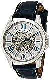 [フルボデザイン]Furbo design 腕時計 自動巻き F5021 シルバー文字盤 ネイビー革 F5021SSIBL メンズ