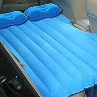 車の旅インフレータブルマットレスエアベッドクッションセクシーエアベッドソファ多機能背もたれキャンプポータブルSUVユニバーサル ( 色 : 青 )