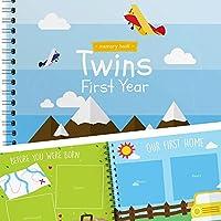 双子用ベビーメモリーブック -双子の初めて1年を記録する唯一のベビージャーナル-飛行機バージョン。