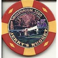 $ 5 Jerry 'sナゲットラスベガスカジノチップMillennium 2000