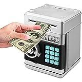 Zonkin Cartoon Electronic ATM Password Piggy Bank Cash Coin Can Auto Scroll Paper Money Saving Box Gift for Kids
