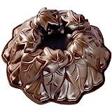 Nordic Ware 85948 Harvest Leaves Bundt Pan, Bronze
