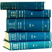 Recueil des Cours/Collected Courses (Recueil Des Cours): 294