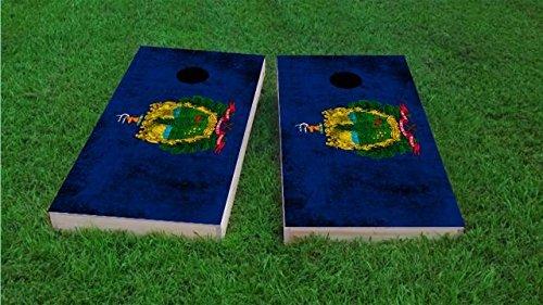 South Africa Worn National Flag Cornhole Set、2x 4、木製、手描き、すべての天気バッグ