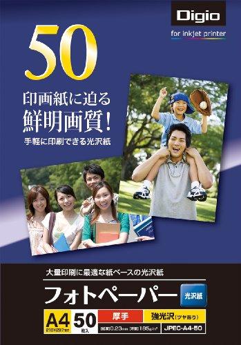 ナカバヤシ 写真用紙 フォトペーパー 光沢紙 A4 50枚 ...