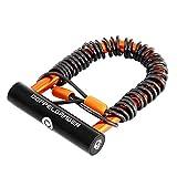 DOPPELGANGER(ドッペルギャンガー) ワイヤードU字ロック アルミ製コンパクト軽量ボディU字ロック&全長2500mmワイヤーセット アフロック DKL323-DP