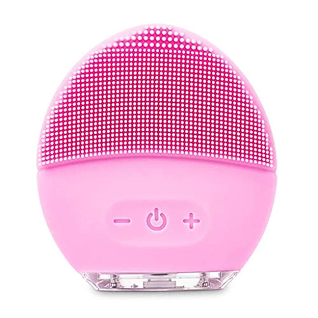 製品つぶやき膜クレンジングマッサージ器、電動洗顔ブラシ、シリコーン美顔器、ファーミング肌、アンチエイジングスクラッチクレンザー (Color : ピンク, Size : One size)