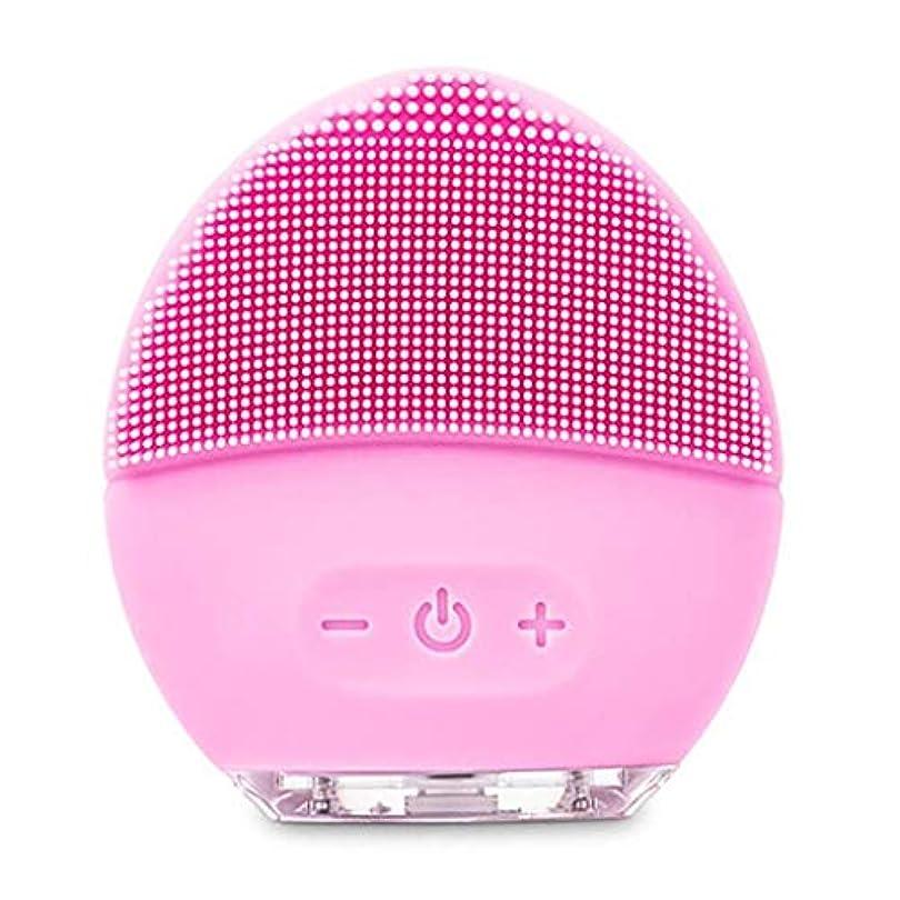 ぞっとするような強大な私たちクレンジングマッサージ器、電動洗顔ブラシ、シリコーン美顔器、ファーミング肌、アンチエイジングスクラッチクレンザー (Color : ピンク, Size : One size)