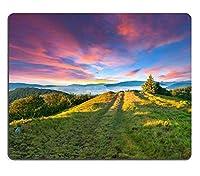 マウスパッドゲーミングマウスパッド山中のカラフルな夏の夕日PN00X3728