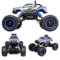 HUKOER RC Car 2.4G High-Speed Remote Control Racing Car Vehicles With Big Wheels Off Road Monster Truck (Blue) [並行輸入品]
