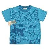 それいけ!アンパンマン 半袖Tシャツ ブルー 100cm 2367470