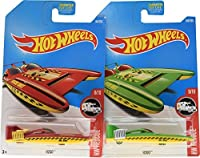 Hot Wheels 2017 HW Rescue H2Go 8/10 Set of 2 Red & Green variations [並行輸入品]