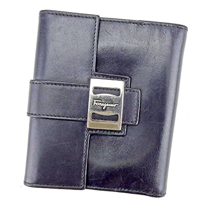 [サルヴァトーレ フェラガモ] Salvatore Ferragamo Wホック 財布 二つ折り レディース メンズ 可 ヴァラ 中古 T4188
