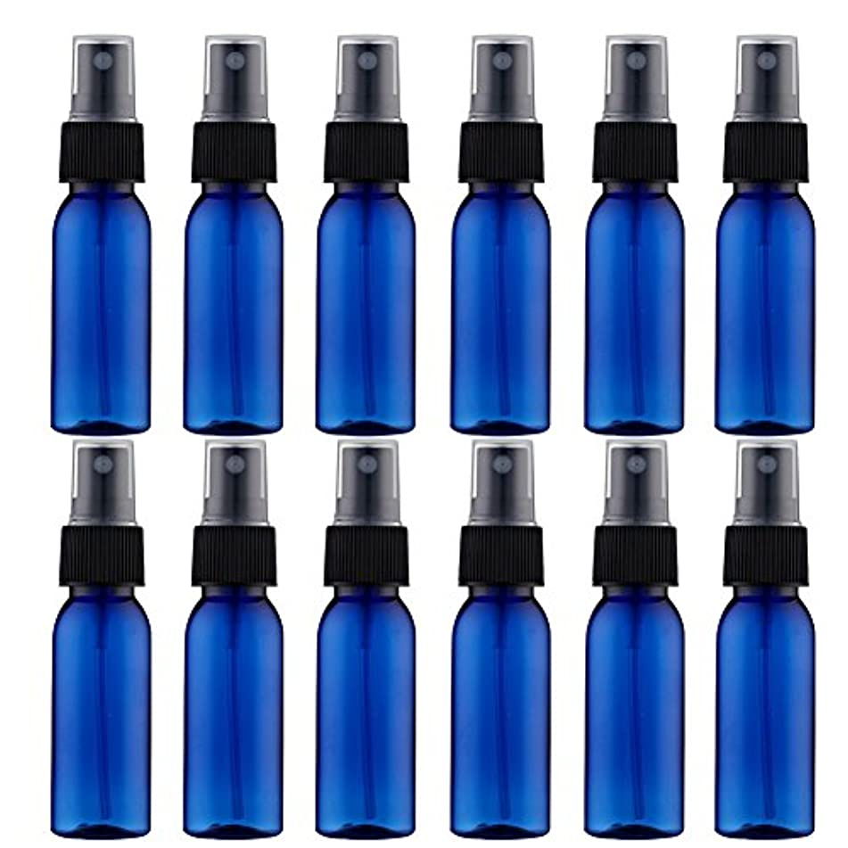 同一のクレデンシャルジャーナルスプレーボトル 12本セット 詰替ボトル 遮光 空容器 霧吹き(30ml ブルー)