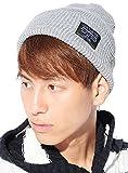 グレー F (ベストマート)BestMart メッセージロゴ リブ ニット帽 メンズ ビーニー帽 ビーニー帽子 ニット ケーブル編み ケーブル アラン編み ワッチキャップ 帽子 ワッチ キャップ ニットキャップ メンズニット帽 S621379-010-101