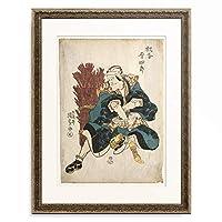 歌川 国貞 Utagawa Kunisada 「The Actor Matsumoto Koshiro as the Boarder Guard of Ausaka. 1811」 額装アート作品