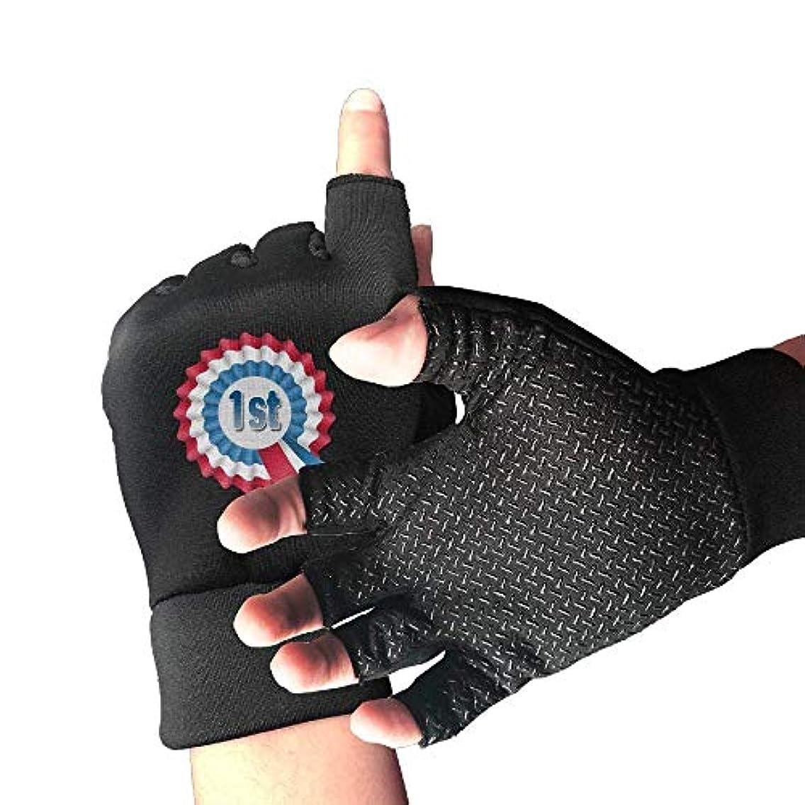 信条島神経Cycling Gloves Award Ribbon Men's/Women's Mountain Bike Gloves Half Finger Anti-Slip Motorcycle Gloves