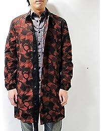 (ジースターロゥ) G-STAR RAW カモフラ ロング スリム ジャケット ジャンバー スリムフィット Dk Auburn(7161) S
