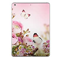 iPad mini4 スキンシール apple アップル アイパッド ミニ A1538 A1550 タブレット tablet シール ステッカー ケース 保護シール 背面 人気 単品 おしゃれ フラワー 写真・風景 花 ピンク 蝶 005358