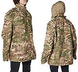 M65タイプ フィールドジャケット マルチカム メンズ Mサイズ フィールドコート トラベルジャケット フード付き サバイバルゲーム 登山 釣り