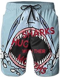 かわいい サメ 口 メンズ サーフパンツ 水陸両用 水着 海パン ビーチパンツ 短パン ショーツ ショートパンツ 大きいサイズ ハワイ風 アロハ 大人気 おしゃれ 通気 速乾