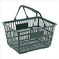 ナンシン:ショッピングバスケット ダークグリーン 外寸:幅400×奥305×高215mm 重量:500g SWD-18 06392