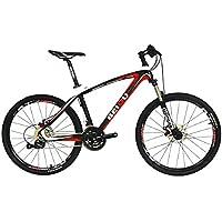 BEIOU® はハードテイルマウンテンバイク26インチシマノ3x9スピードSRAMブレーキ超軽量完全なカーボンMTBフレームレディライド 自転車 CB014A [並行輸入品]