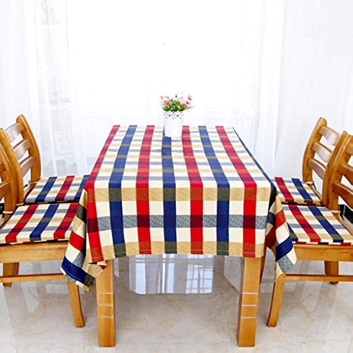 机中間かわいらしいテーブルクロス ZYL布テーブルクロスコーヒーテーブルクロステーブルクロス格子縞シリーズテーブルクロス綿キャンバス肥厚ノンスリップダストカバー布 テーブルレイアウト (Color : B, Size : 135*180CM)
