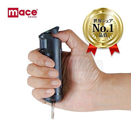 世界シェアNo.1の品質 mace(メース) 防犯 携帯 護身用 催涙スプレー ハードキーモデル 80391 無色透明タイプ & 防犯エコホイッスル(白色) 1個 セット