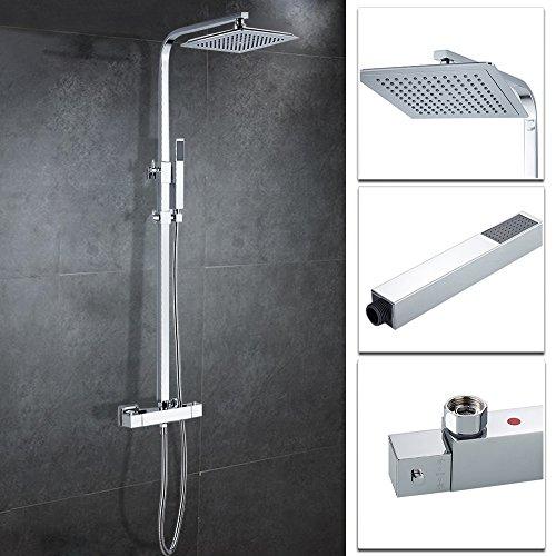 Hootech シャワーヘッド セット オーバーヘッド ステンレス 水圧 アップ...