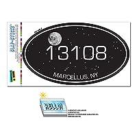 13108 マーセラス, NY - Night 空 - 楕円形郵便番号ステッカー