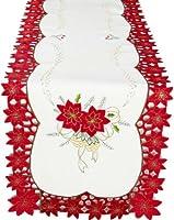 XiaホームFashions Celebration Holiday刺繍カットワーク刺繍クリスマステーブルランナー 16 by 36-Inch XD46227