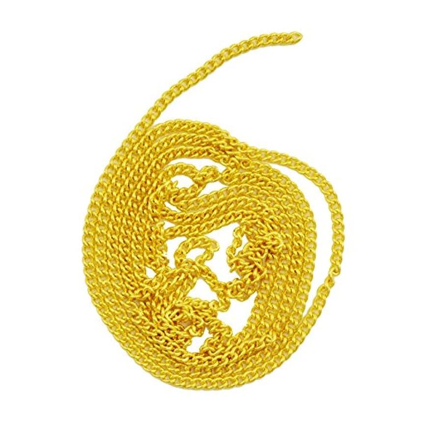 サイトラインアイドルタクシーネイルパーツ ネイルチェーン 50cm ゴールド 金 デコパーツ