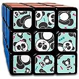 かわいいパンダ スピードキューブ 3x3x3 立体パズル ポップ防止 回転スムーズ 競技用 55x55x55mm 知育玩具 脳トレ プレゼント カスタムデザイン
