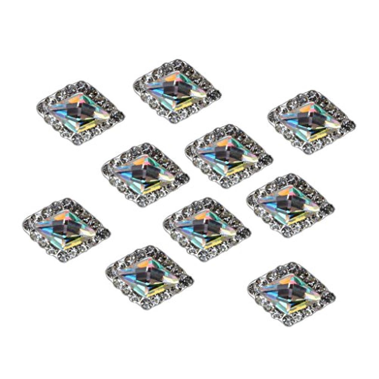 服を片付けるかけがえのないスポンジSM SunniMix ラインストーン ネイル用ストーン 10個セット 光沢 ダイヤモンド クリスタルチップ 装飾 全5種類 - #1
